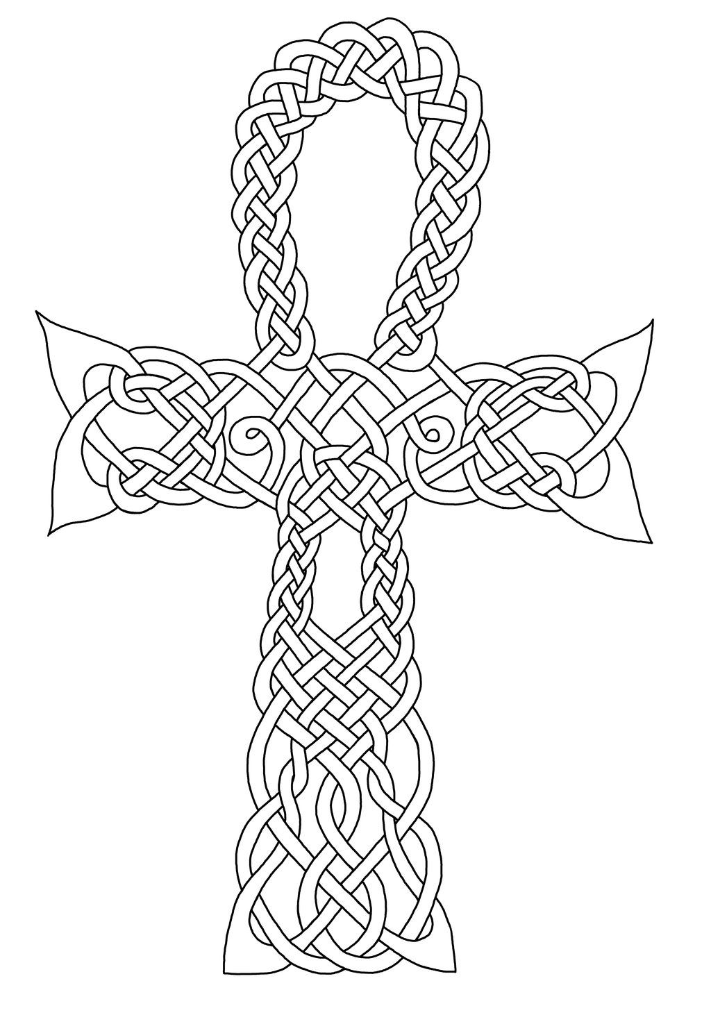 Celtic Ankh Symbol Coloring Pages Celtic Coloring Coloring Pages Mandala Coloring Books