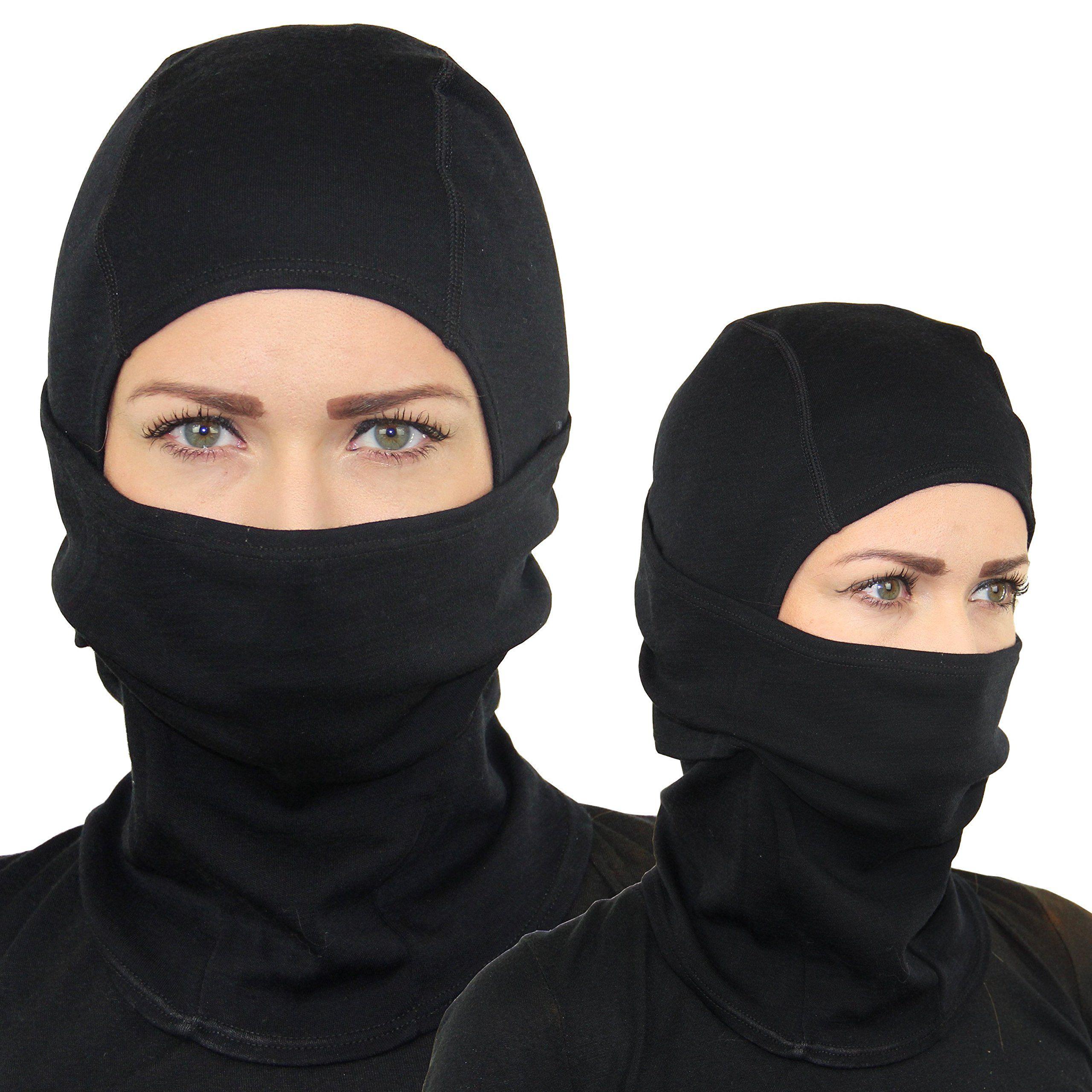 Amazon.com: Merino Wool Hinged Balaclava - Lightweight Ski Mask ...