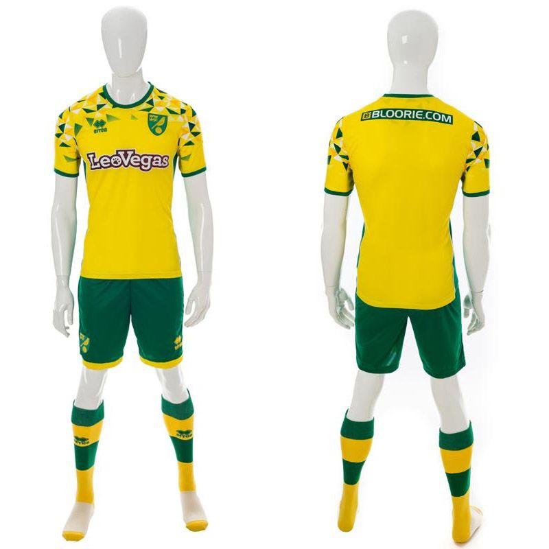 Novas camisas do Norwich City 2018-2019 Erreà  b1cadfec89410