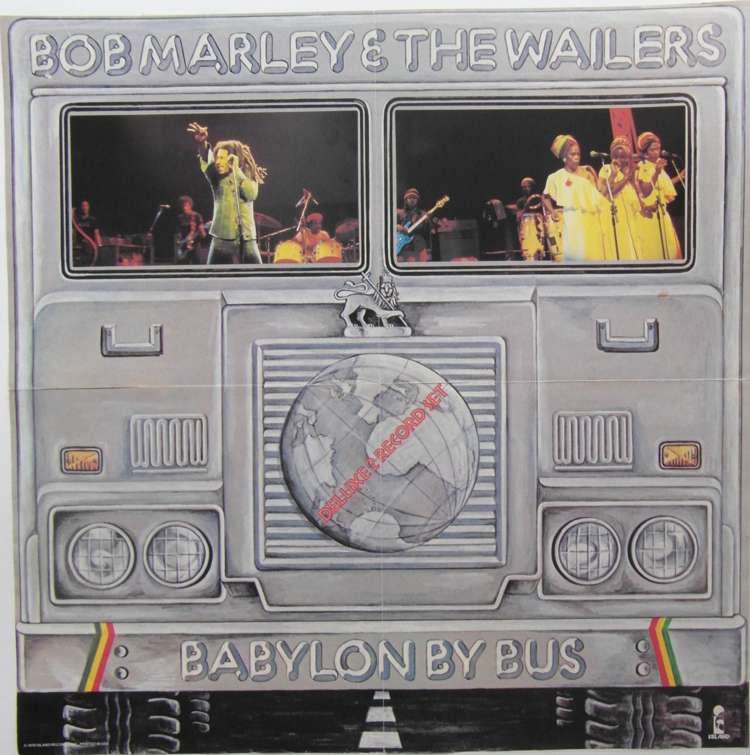 Original 1978 Bob Marley Island Records Insert Poster For The Live Album Babylon By Bus The Wailers Bob Marley Marley