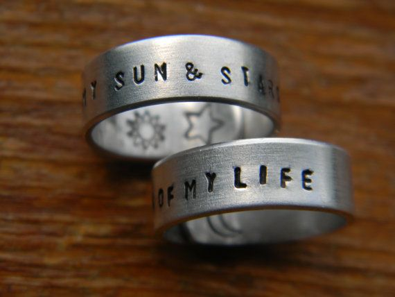 """My sun and stars"" and ""Moon of my life"" rings."