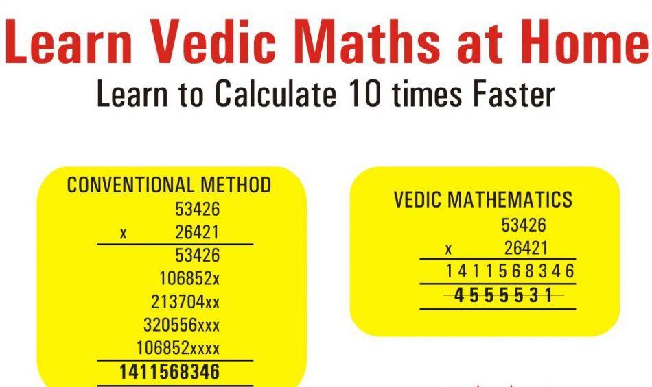 25 Vedic Maths Tricks In Simplified Version Math Tricks Math Methods Math
