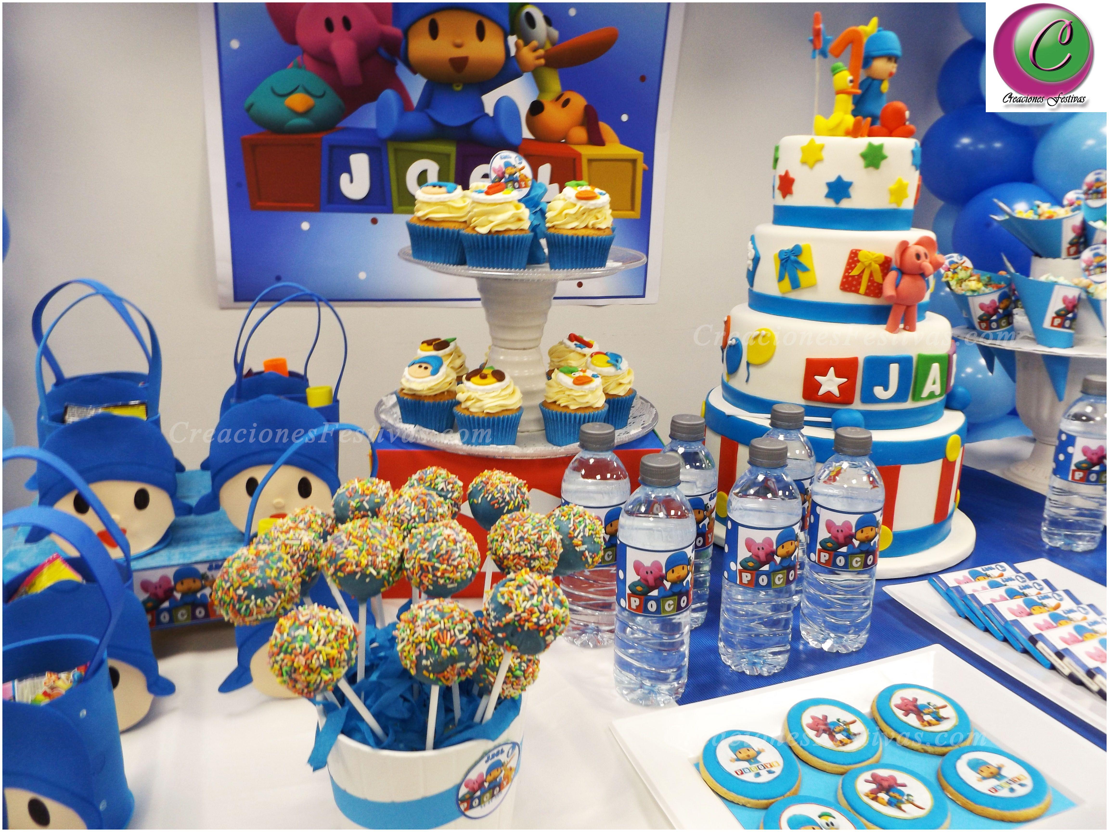 Decoraci n con arco de globos de pocoyo candy buffet - Decoracion infantil barcelona ...