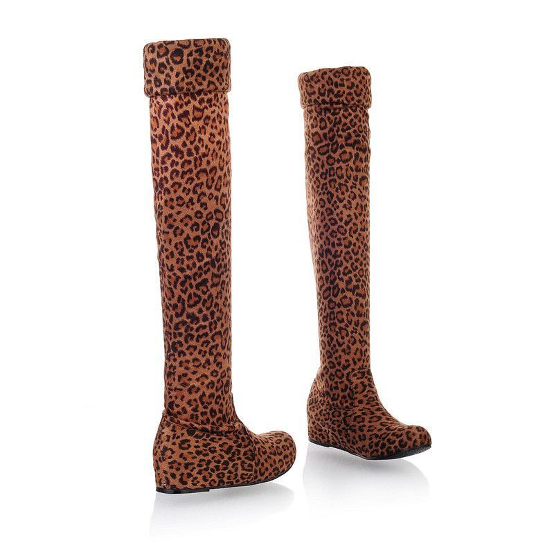 Over the Knee Thigh High Flat Boots up to Size 11.5 - Black / 5 ...