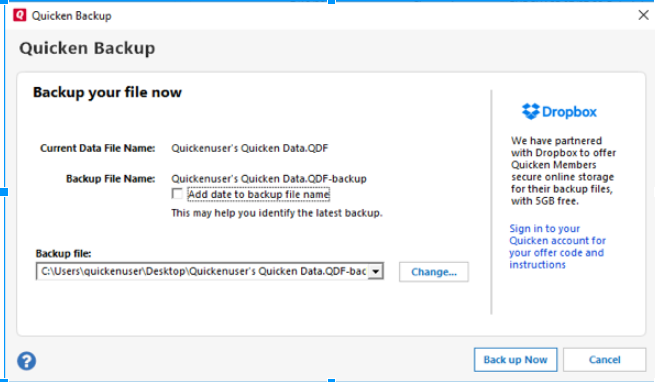 How To Create Backup or Restore Quicken Data?   How To
