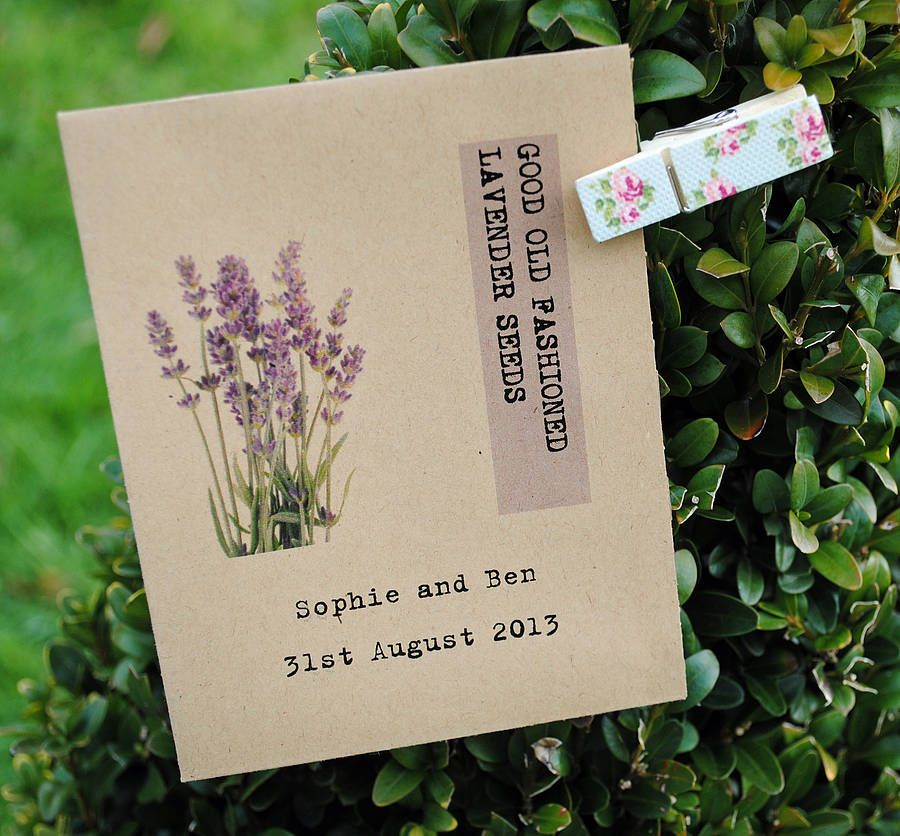 Personalised Lavender Seed Packet Favour
