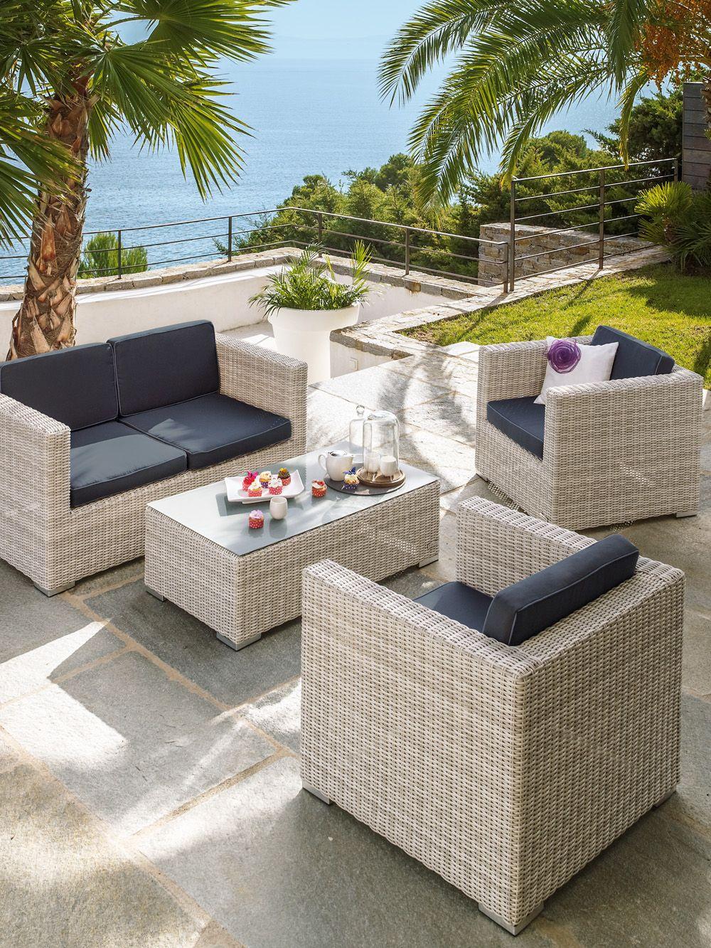 Salon de jardin 4 pièces Océane Jardin | Architect-Beach ...