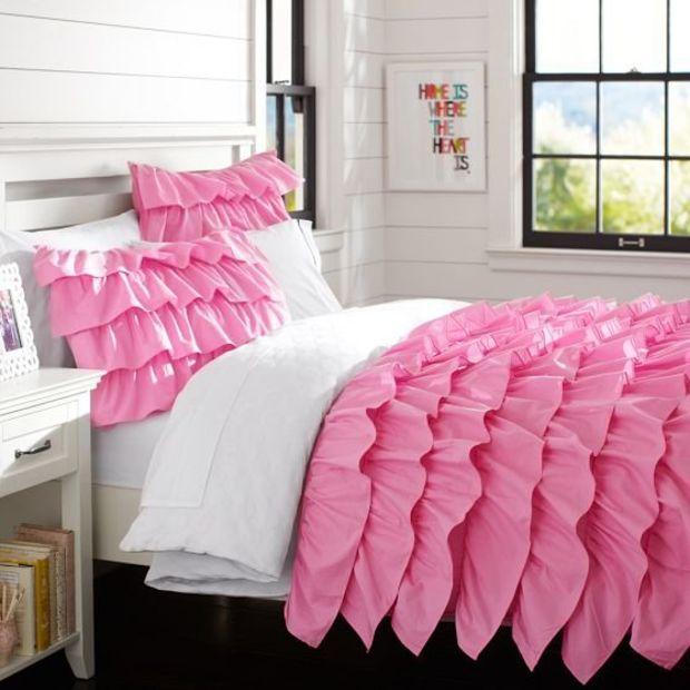 Rufflicious Quilt Sham Soft Pink My New Room Quarto Vintage