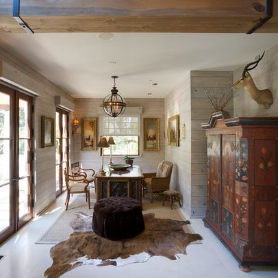 Pin By Ginny Thomas On Interior Inspiration Rustic Office Design Traditional Home Office Rustic Office