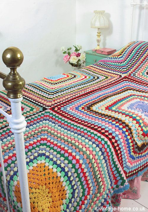 Vintage Home - Large and Colourful Crochet Throw: www.vintage-home ...