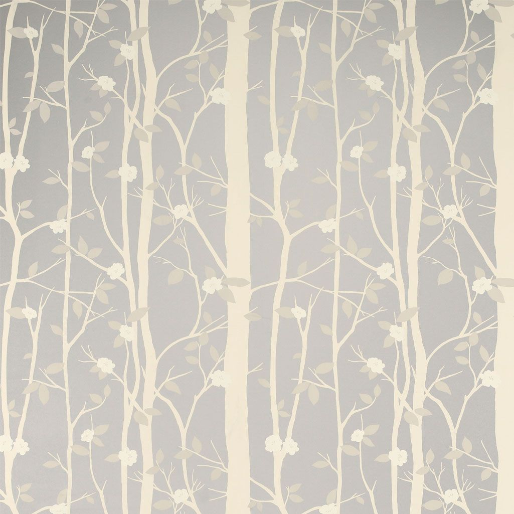 Silver Wallpaper For Bedrooms Mandara Wallpaper Beige Wallpaper With A Forest Of Silver Trees