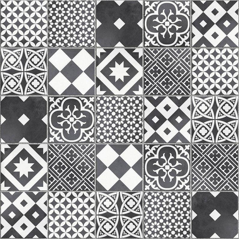 Mosaique Sol Et Mur Gatsby Decor Noir Et Blanc 6 17 X 6 17 Cm Leroy Merlin Decor Noir Et Blanc Carreaux De Ciment Noir Et Blanc Douche Noire Et Blanche