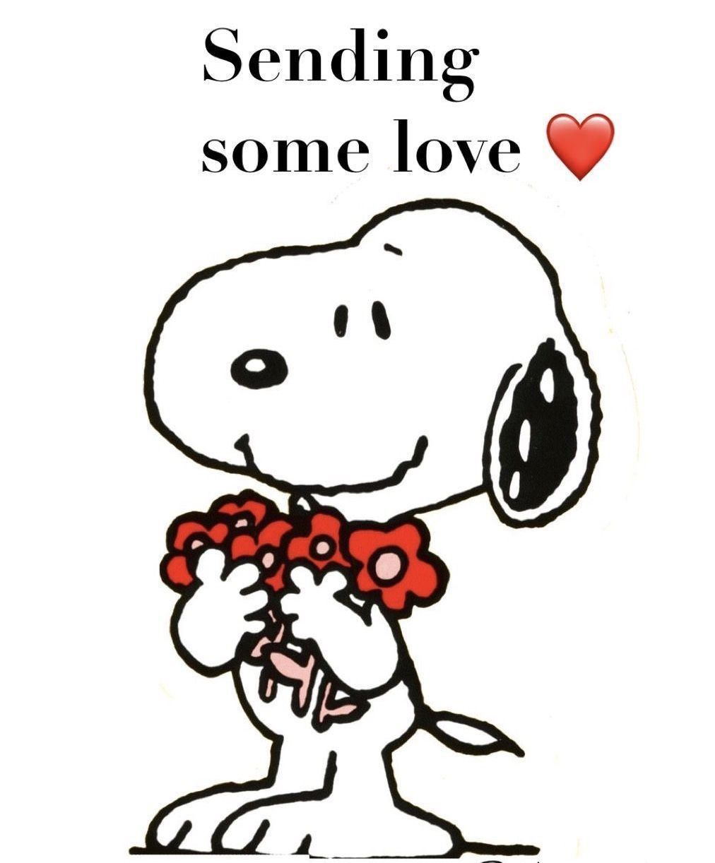 Sending some ❤️ | Snoopy quotes, Snoopy love, Snoopy