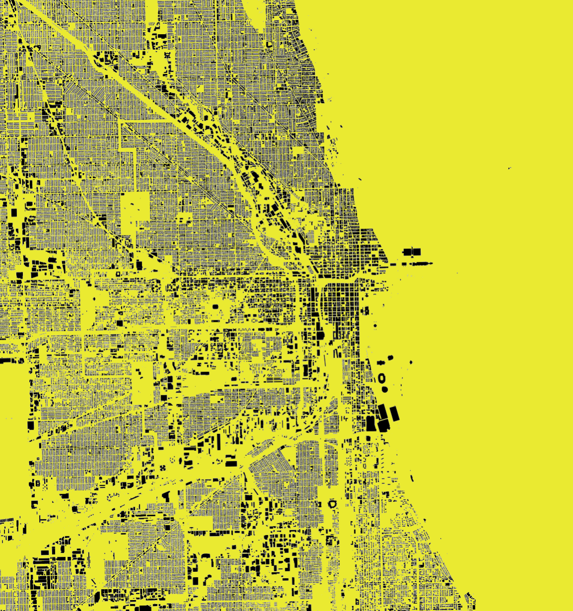 Graphic Site Map: Chicago Is One Of The Most Edited Cities In OSM. Made With Stamen Map Stack.