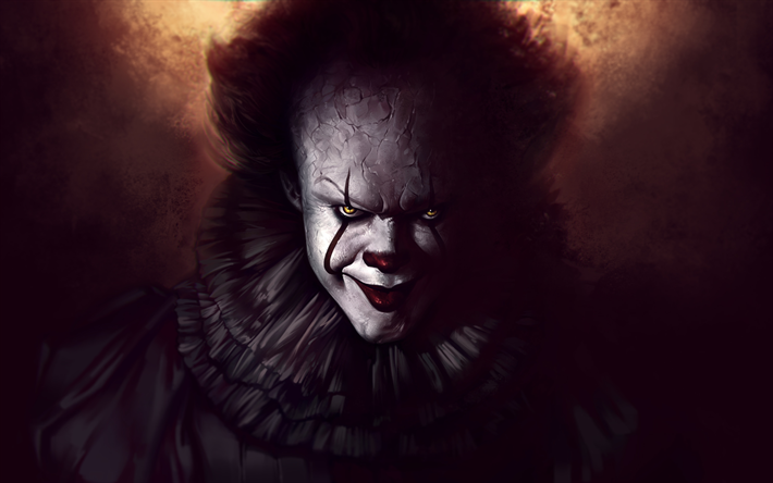 Download wallpapers Clown, art, Pennywise, 4k, 2017 movie