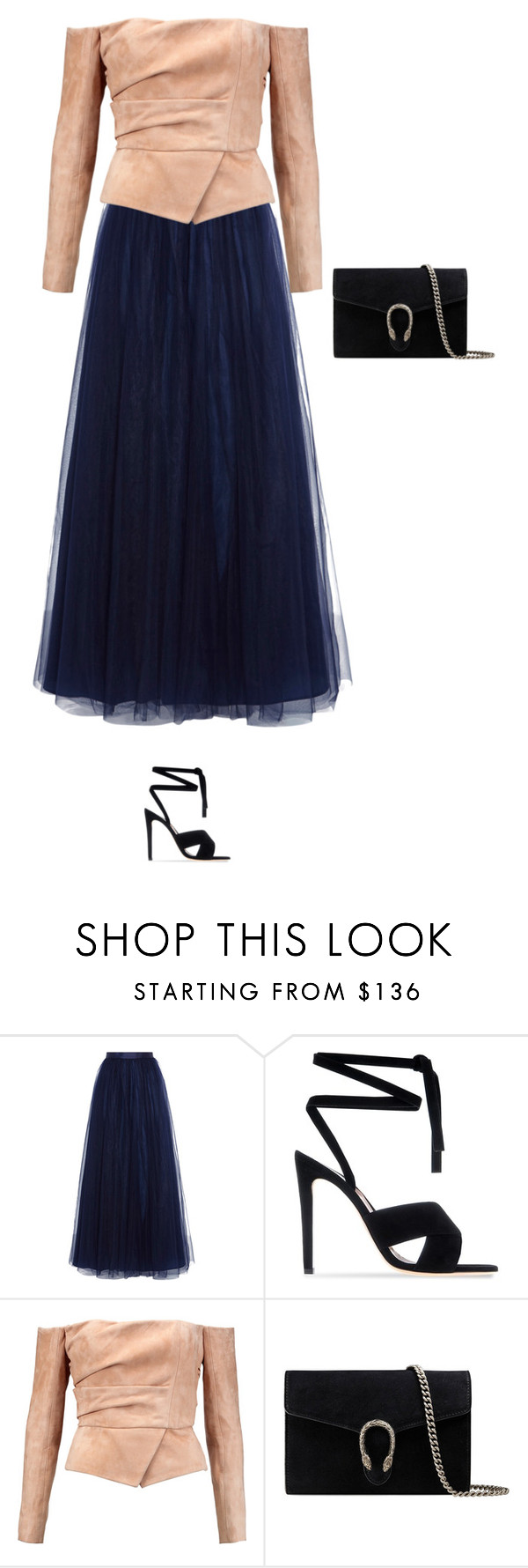 """""""Untitled #4841"""" by linda56draco ❤ liked on Polyvore featuring Gianvito Rossi, Balmain and Gucci"""