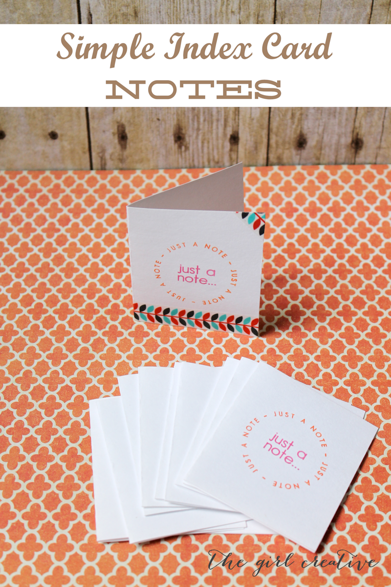 How to's : Simple Note Cards