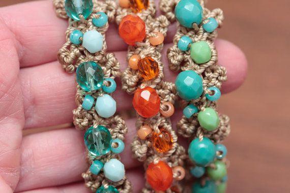 CROCHET PATTERN Crochet Jewelry Pattern Crochet by thevelvetheart