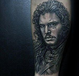 4b15cc1df481d Jon Snow Portrait Game of Thrones Tattoo Snow Tattoo, Game Of Thrones  Tattoo, Realism