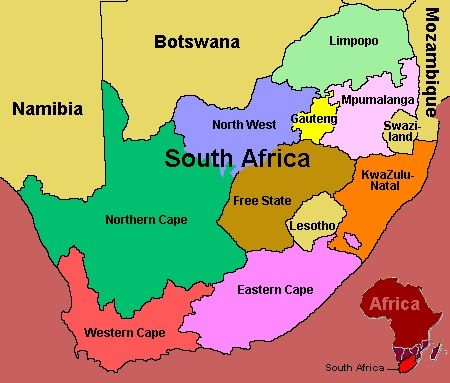 South Africa Guide And Travel Tips South Africa Map South - Lesotho political map