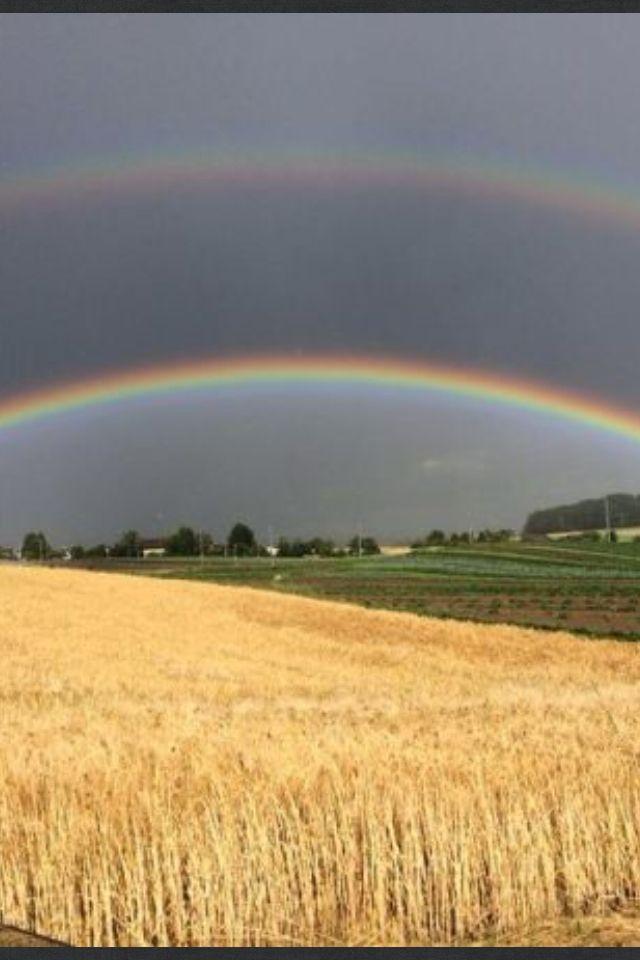 Doppelte Regenbogen über der Schweiz Attiswil BE