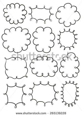 Set of hand drawn frames - #DRAW #ZENTANGLE #ZENDALA #TANGLE #DOODLE #BLACKWHITE #BLACKANDWHITE #SCHWARZWEISS