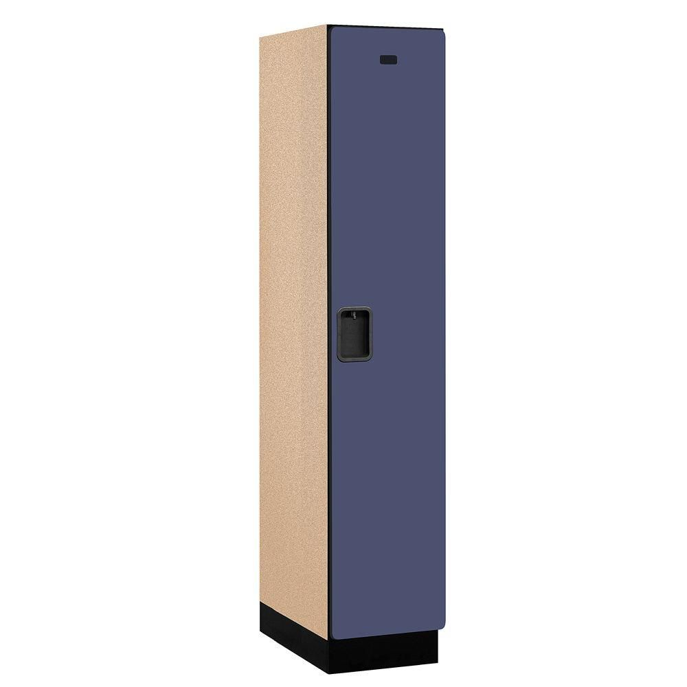 21000 Series 1-Tier Wood Extra Wide Designer Locker in Blue - 15 in. W x 76 in. H x 21 in. D