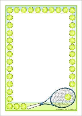Tennis A4 Page Borders Sb11017 Page Borders Clip Art Borders Free Clip Art