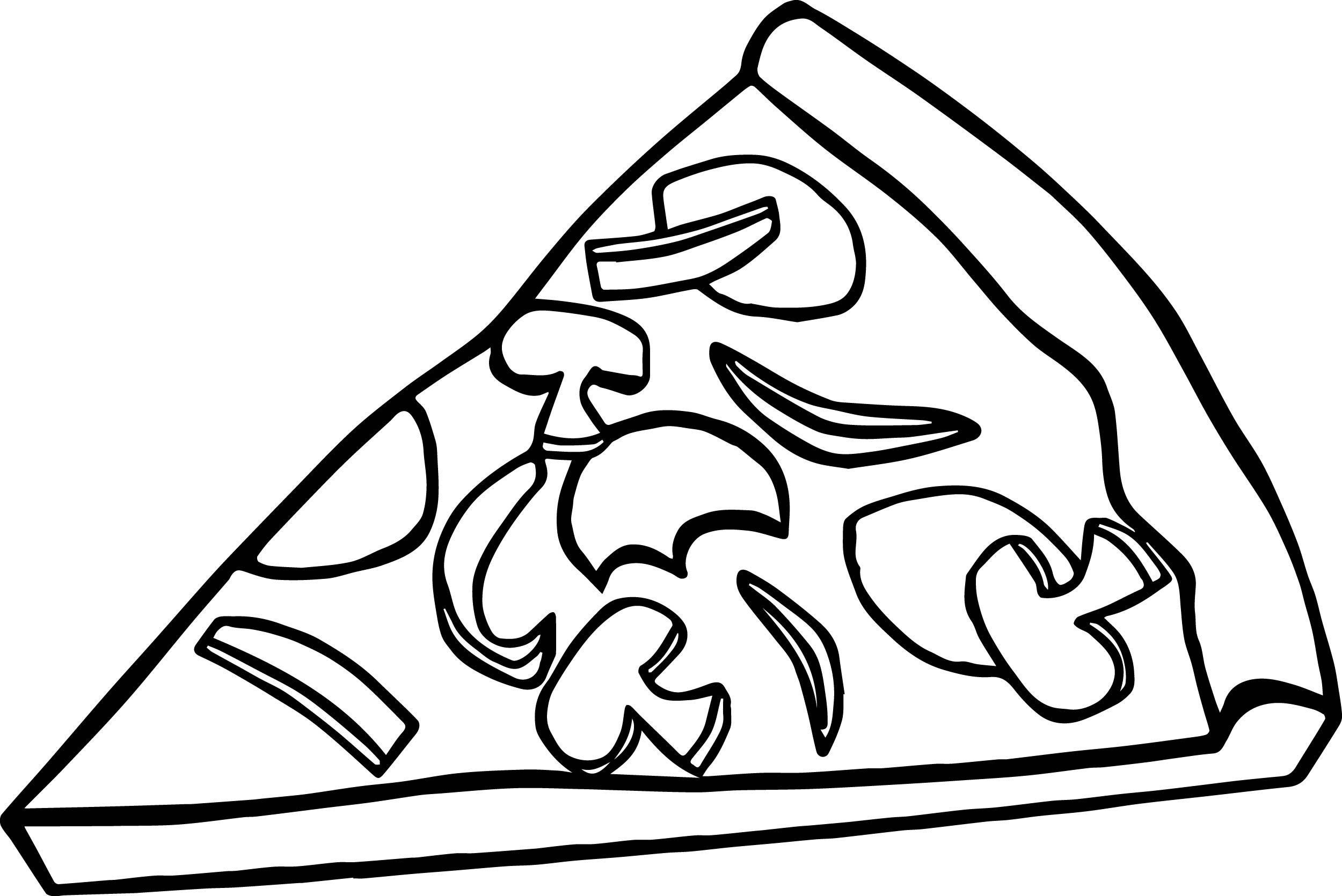 Cool Pepperoni Pizza Slice Coloring Page With Images Food