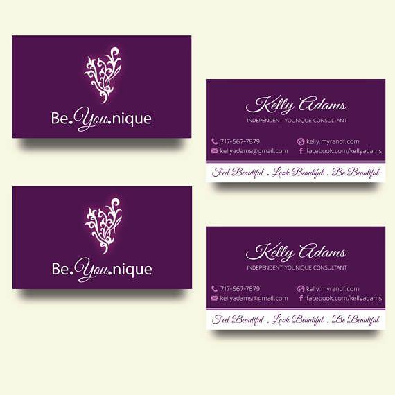 Younique Business Cards Elegant Younique Personalized Business Card Younique Custom Busines Younique Business Cards Business Cards Elegant Younique Business