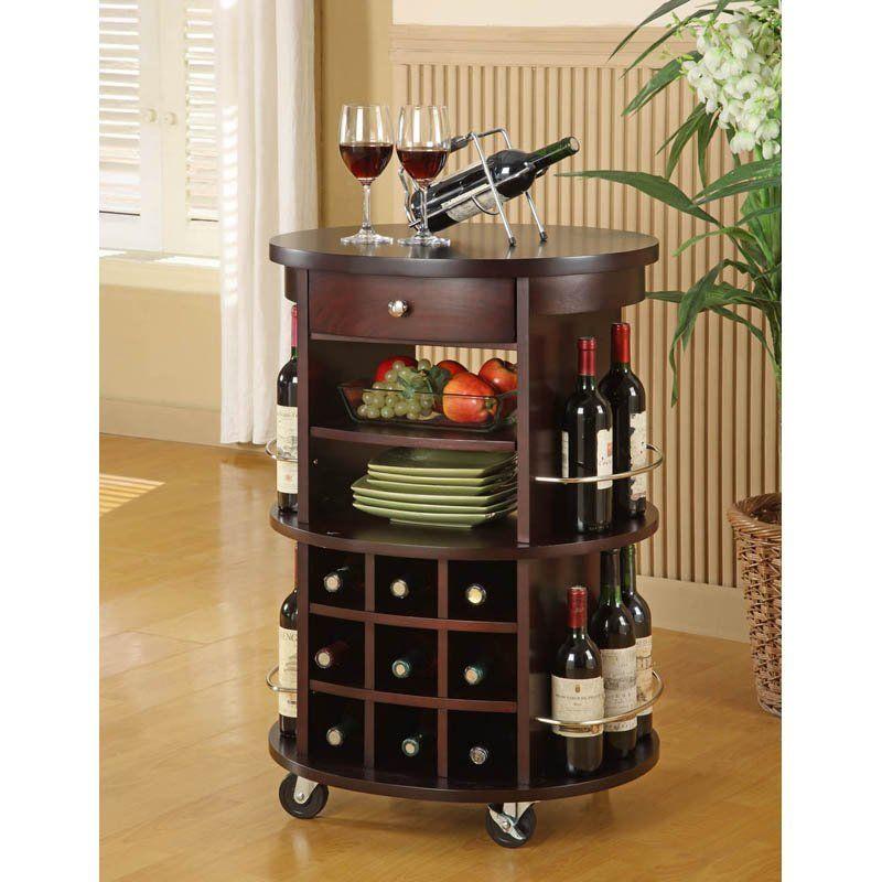 Round Bar Serving Cart Home Bar Furniture Bars For