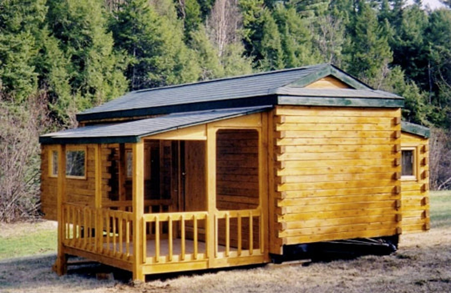 The portable cabin natural log rv natural cabin and logs for Rv log cabins