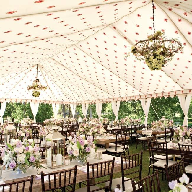 Whimsical French Styled Reception Space Tent Wedding Garden Wedding Reception Tent Decorations