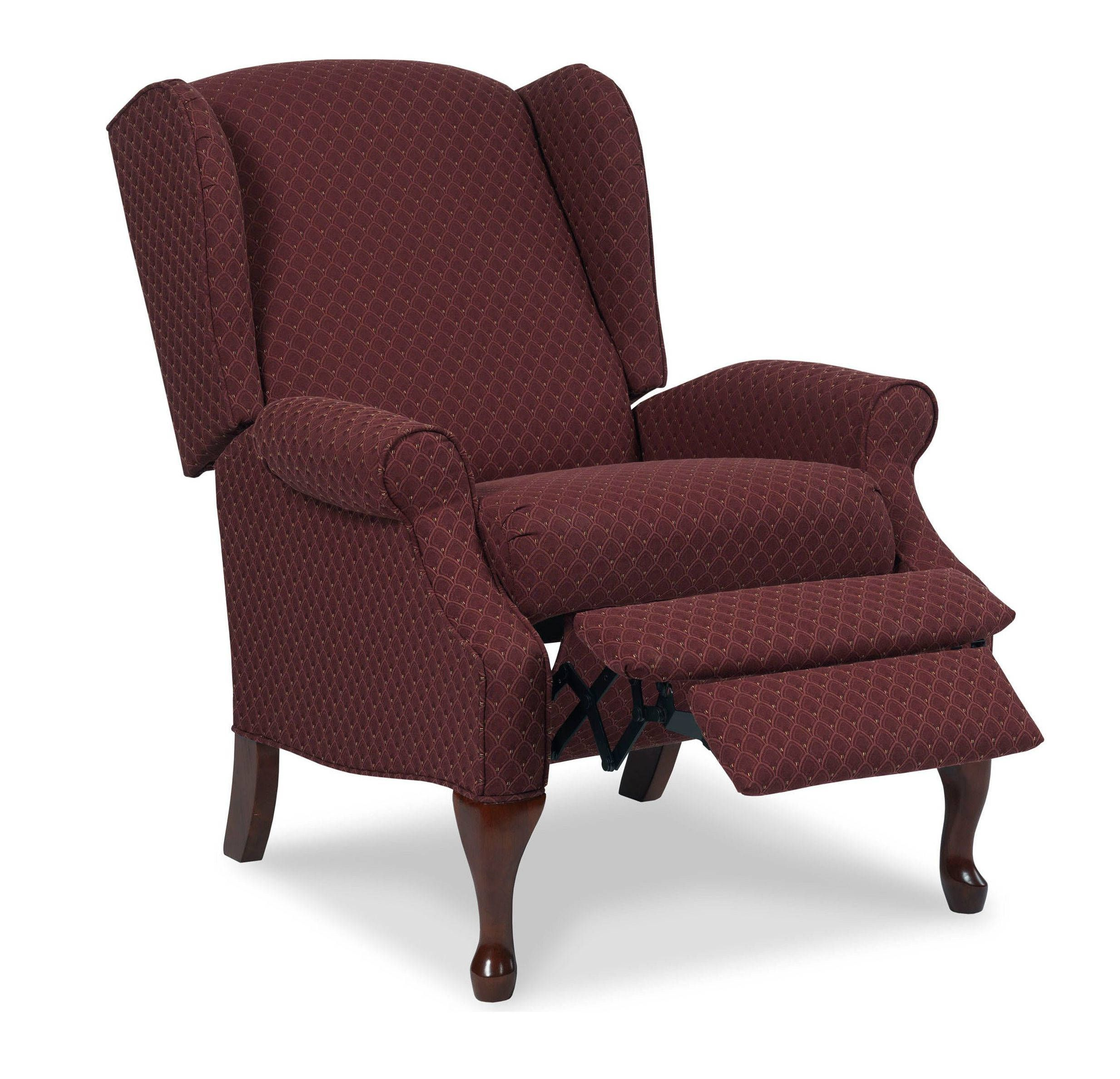 Outstanding Hampton Ditzy Shell Cherry Burgundy Fabric High Leg Recliner Pdpeps Interior Chair Design Pdpepsorg