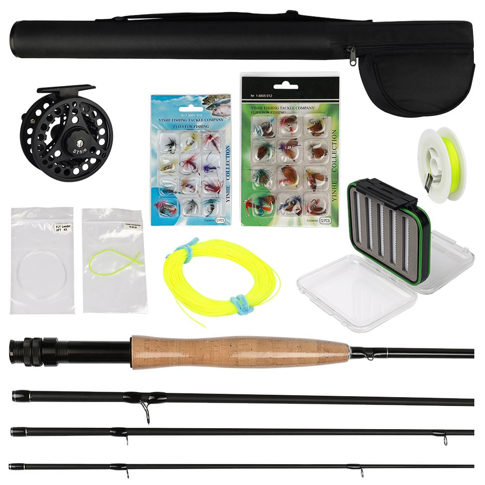 For Sale Kit Pesca 3 4 2 4m Fly Fishing Rod 24 Pieces Fishing Flies Professional Reel And Line Fly B Fishing Rods And Reels Fly Fishing Line Fly Fishing Rods