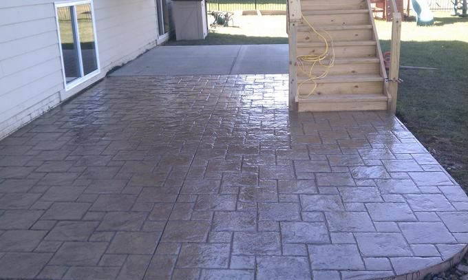 Stamped Concrete Patio- Brick look Patio Pinterest Stamped