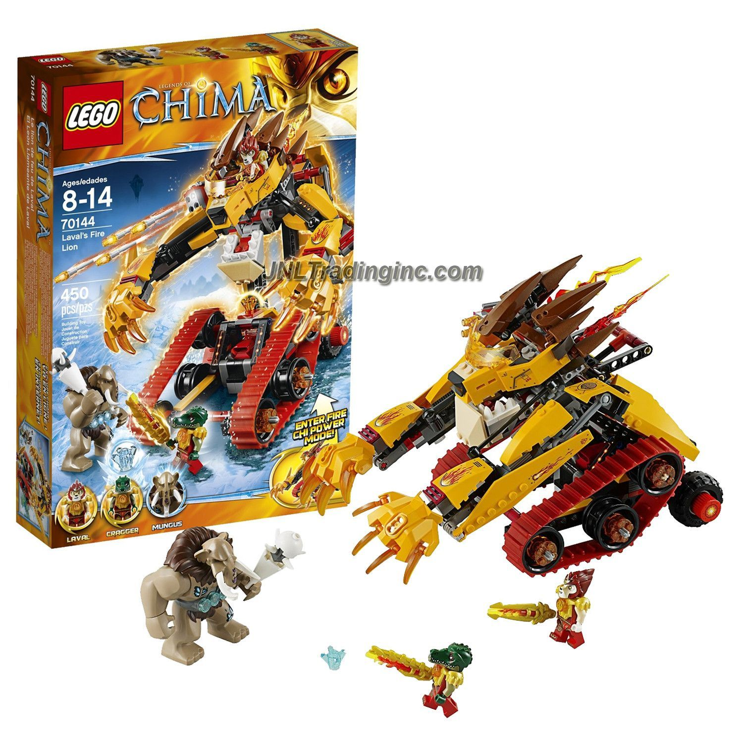LEGO Legends of Chima Feuer Outfit Cragger - Figur Minifig Krokodil 70144