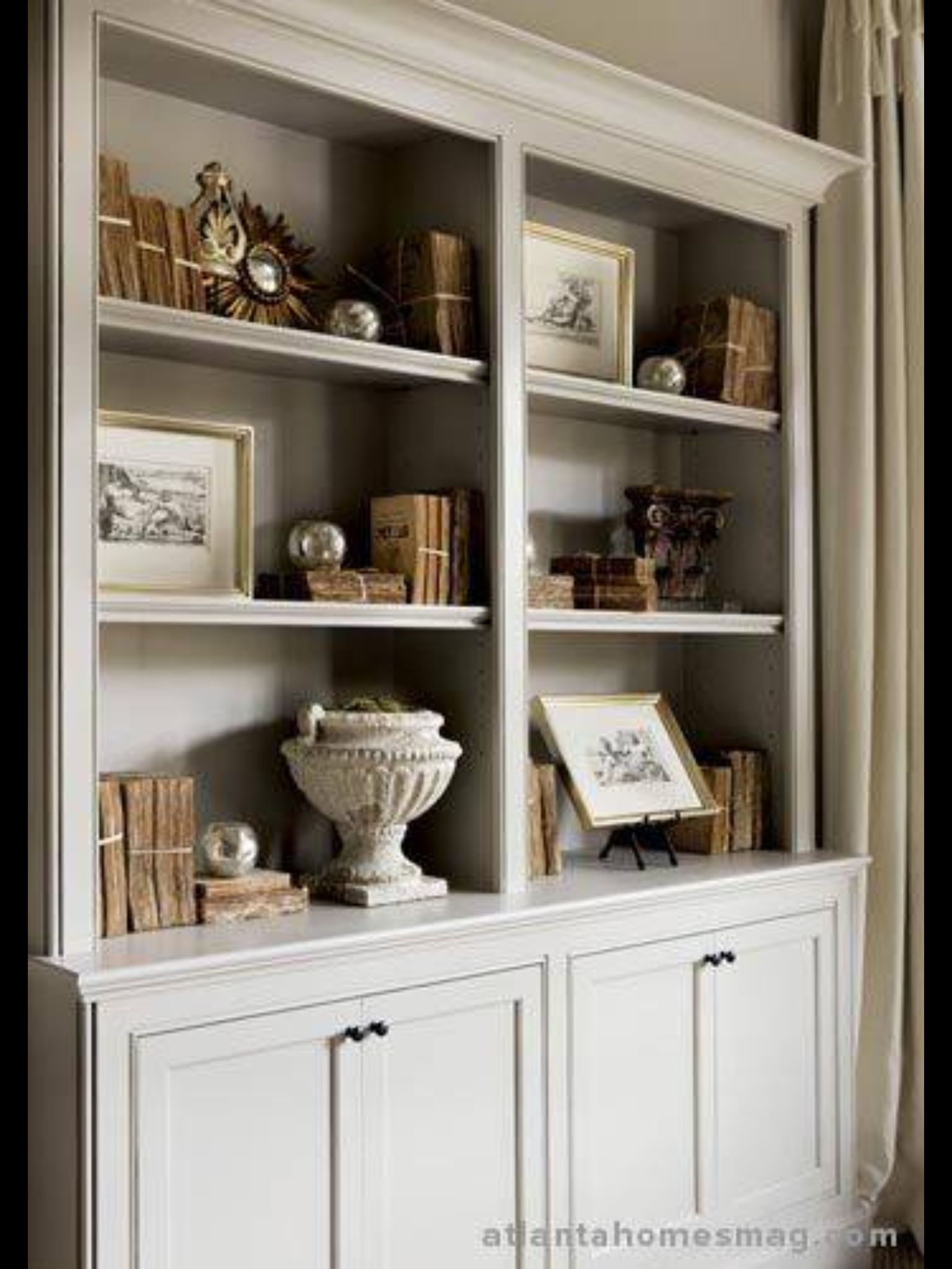 White Bookcases For Guest Room Library Etc In The Cabinets Below