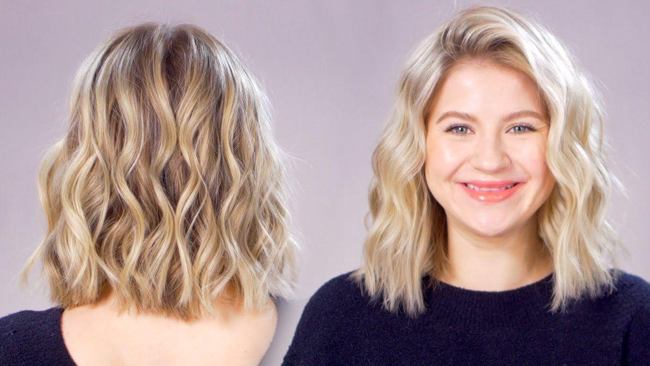 Updated Beachy Waves Short Hair Tutorial Youtube Beachy Waves Short Hair Beachy Waves Hair Short Hair Styles