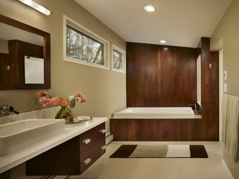 18++ Deco salle de bain carrelage marron trends