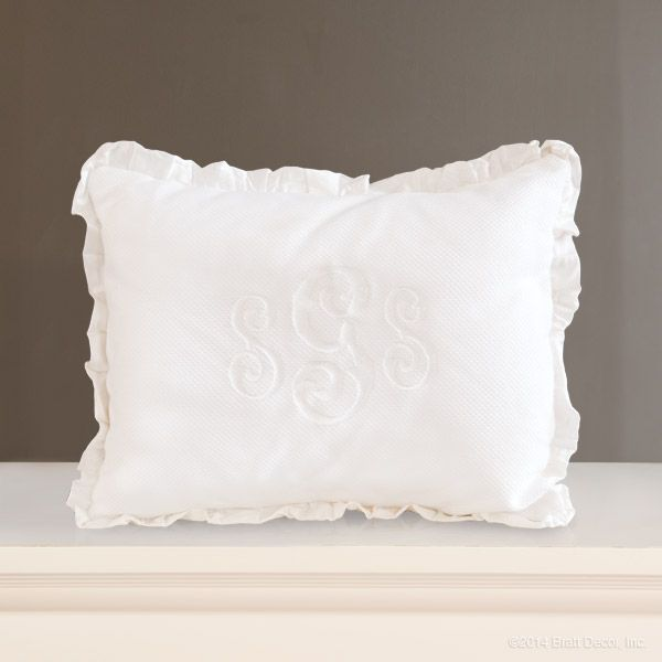Decorative Crib Pillow Decorative Nursery Pillow Monogram White Impressive Decorative Crib Pillows