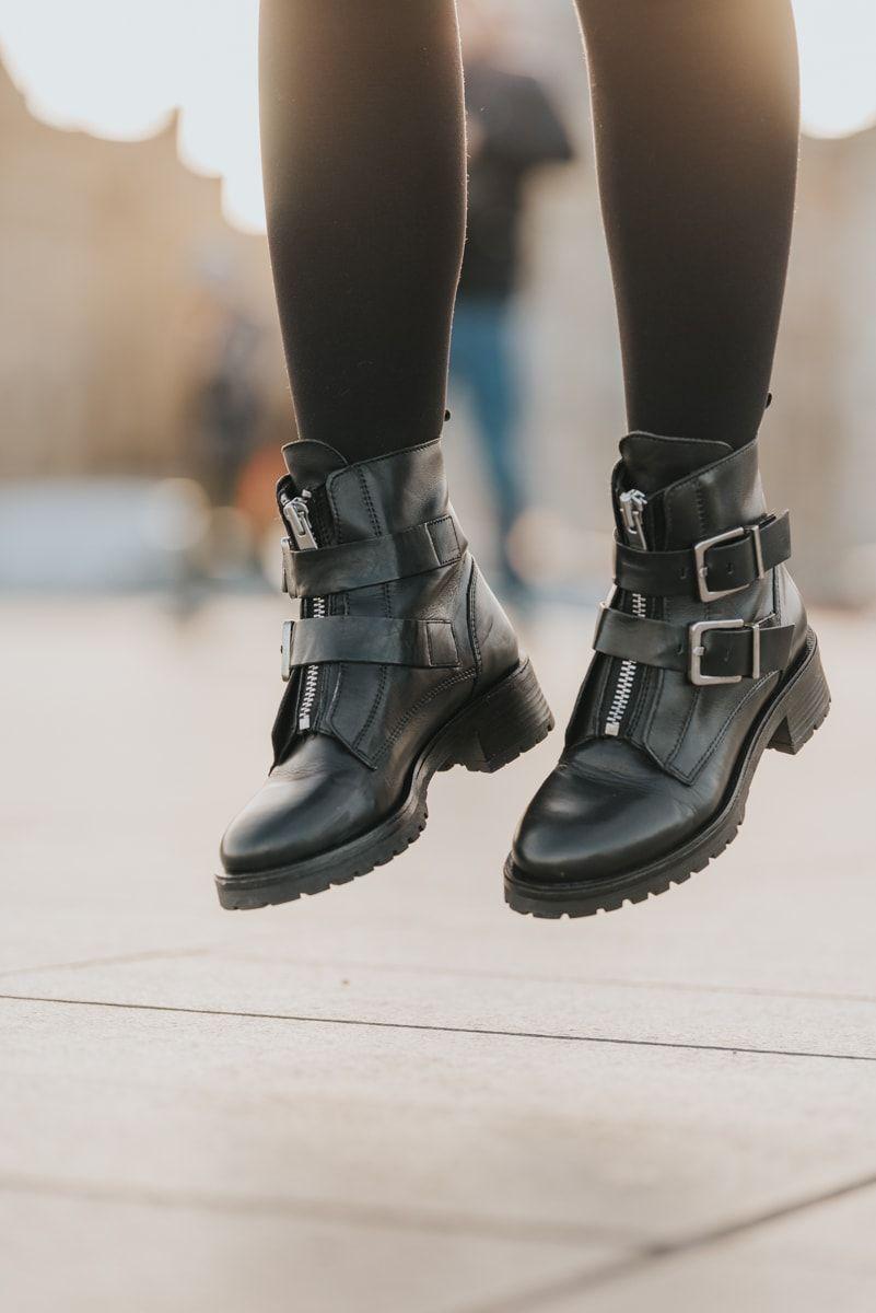 Tendance ROCK bottines à boucles blog mode lifestyle