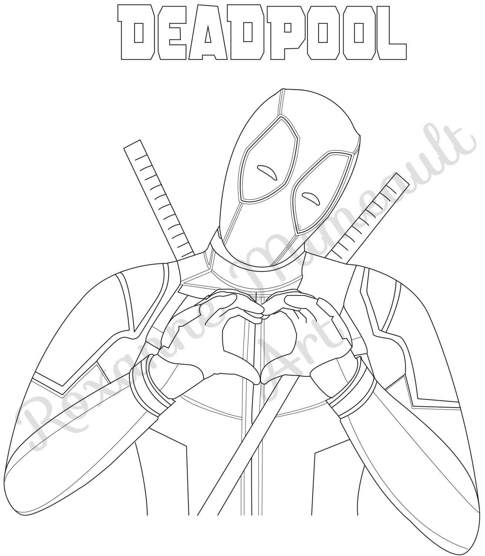 deadpool ausmalbilder 03   Deadpool   Pinterest   Ausmalbilder