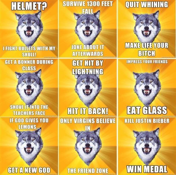 Courage Wolf Wolf Meme Insanity Wolf Meme Insanity Wolf