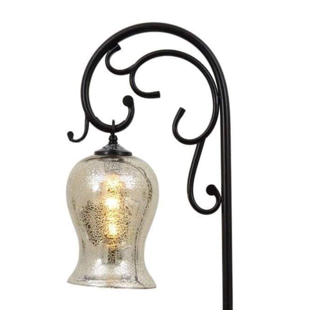Michaels Craft Floor Lamp: Bronzed Floor #Lamp Glass Shade Globe Home Decor Lighting