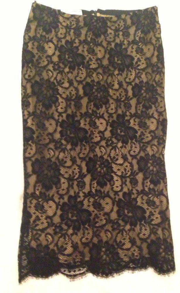 Dolce & Gabbana lace black skirt. HOT!! Hollywood style. #DolceGabbana #StraightPencil