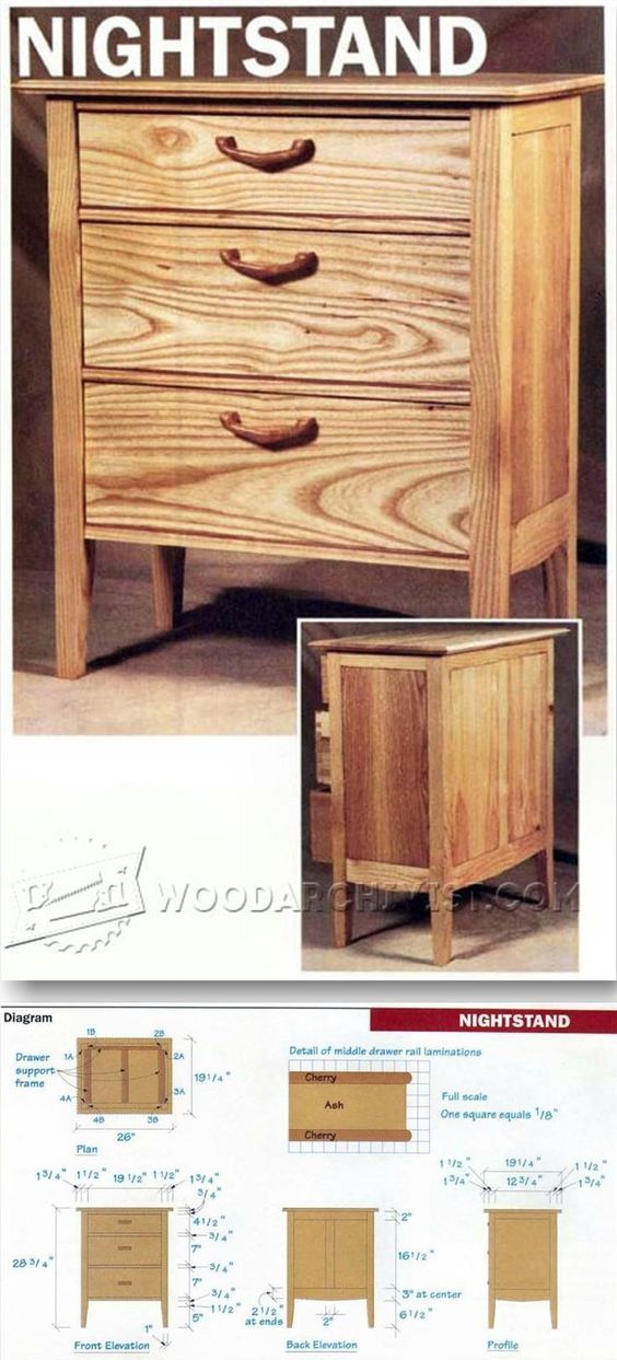 NightStand Plans - Furniture Plans and Projects WoodArchivist