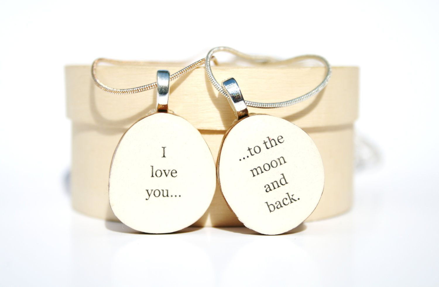 Mother daughter necklace set personalized jewelry gift