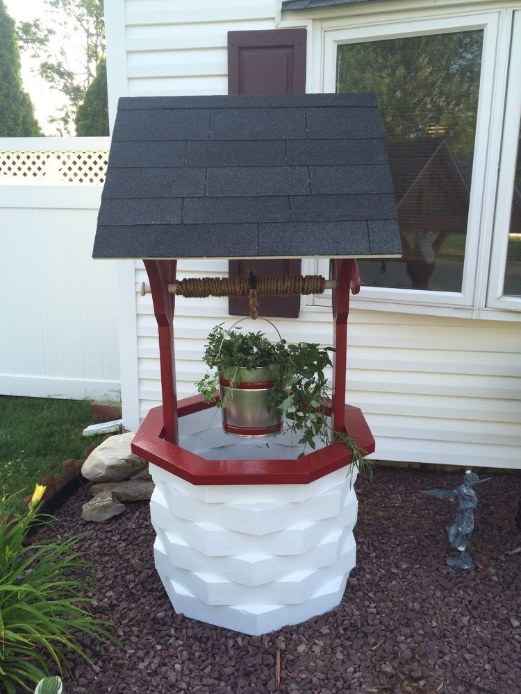 How To Make A Wooden Garden Wishing Well