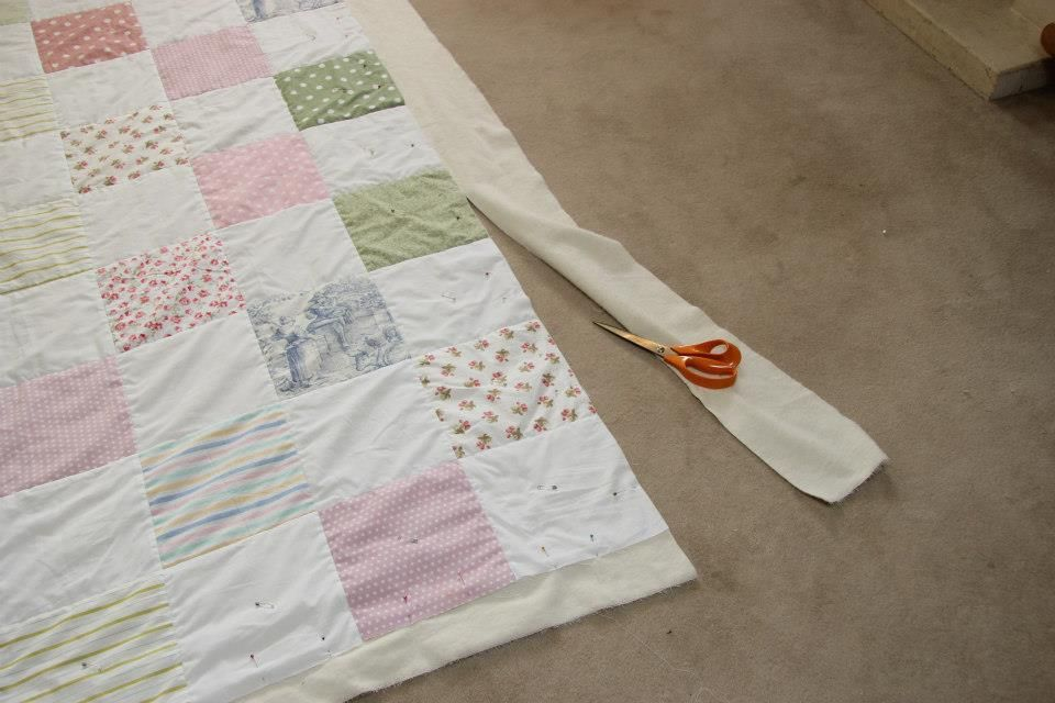 How to make a simple patchwork quilt part 6 - How to attach the ... : how to make patchwork quilt - Adamdwight.com